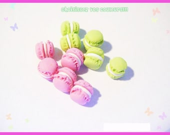 Set of 10 miniature polymer clay button for treats candy jar
