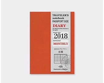 Travelers Factory Monthly Diary 2018 Refill (Passport Size )