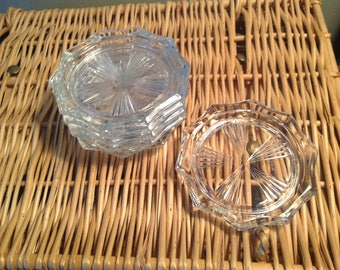 Crystal, 6 coasters, chic, luxury,