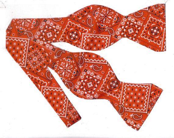 bandana self tie bow tie western bow ties cowboy bow