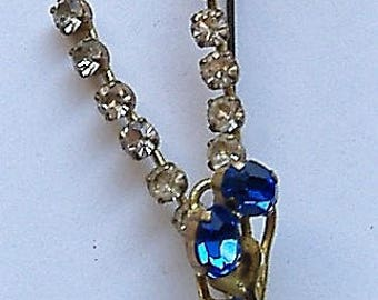 1950S brooch BLUE STONES