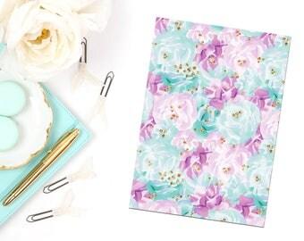 Purple & Teal Floral Planner Dashboard