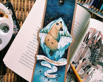 handmade watercolor bookmark • wandering wild • brother bear inspired bookmark • disney bookmark • handmade