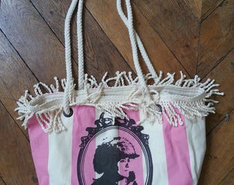 Canvas lounger and umbrella fringe Tote