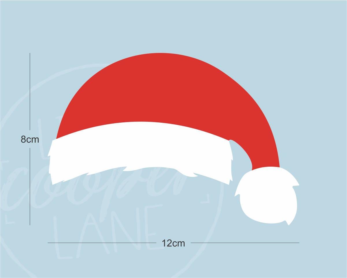 Santa hat decal christmas vinyl sticker for car laptop