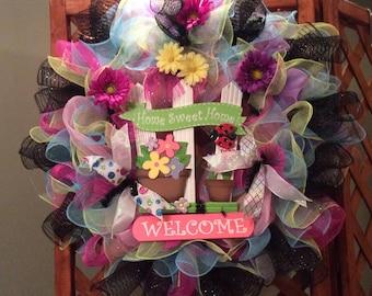 Home Sweet Home Welcome wreath