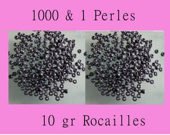 10 G grey 2 mm seed beads