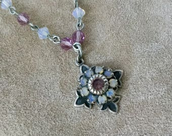 Vintage Liz Palacios SF Crystal Pendant Necklace