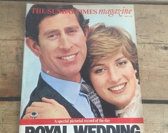 Charles and Diana Royal Wedding The Sunday Times Magazine London