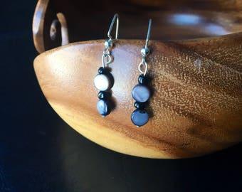 Pearl Grey Drop Earrings