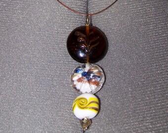 "Pendant ""Flat glass beads"""