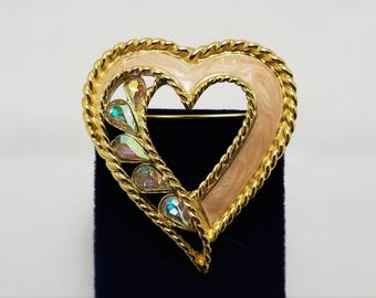 TRIFARI Stone And Enamel Heart Pin