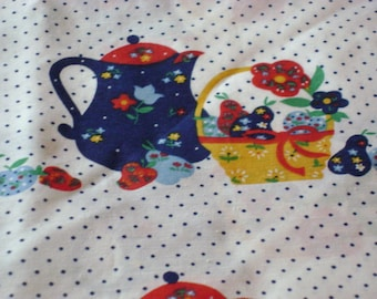 Kitchen fabric Farmhouse style over 2 yards colorful fabric 45 wide.  Just washed and pressed.