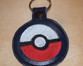 Pokeball key fob key chain zipper pull bag tag. Pokemon