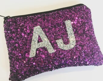 Coin purse, pocket money purse, glitter purse, personalised purse, personalized coin purse, girls purse, glitter bag, monogram purse