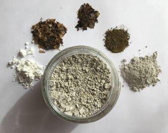 face mask sampler | clay mask | exfoliating | purifying | calming | 3 oz