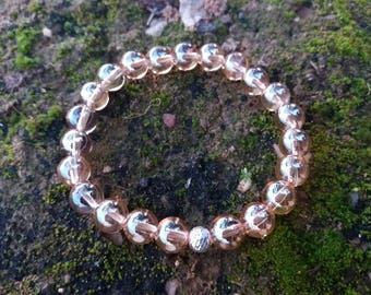 Please energized Bracelet be please with aqua aura yellow gold Pearl Silver 925