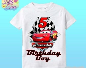 15% Off Disney Cars Birthday Shirt - Lightning McQueen and Mater Racer Shirt/lightning mcqueen shirt/disney cars shirt/birthday boy/159