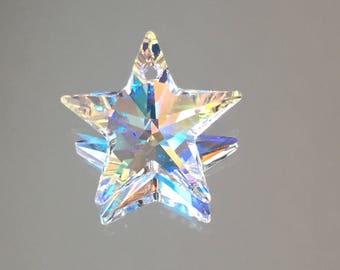 Swarovski Crystals - 20mm Star Pendant - Crystal AB - BEAUTIFUL! - Sold Individually (#750)