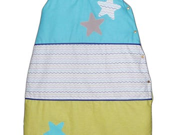 Sleeping bag - sleeping bag - cozy quilted baby - waves - (0-6 months)