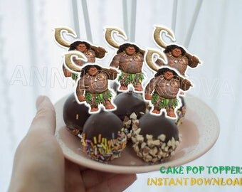 Maui Cake Pop Toppers/ Maui Cupcake Toppers/ Maui Printables/ Instant Download/ You Print 60% OFF