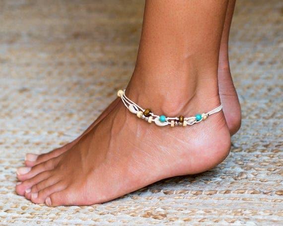 Beach Anklet For Women // Shell Anklet // Beach Ankle Bracelet