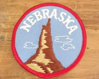 Vintage Nebraska    State Patch   Vintage Sew on Patch for Nebraska