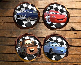 Cars Edible Cupcake Toppers