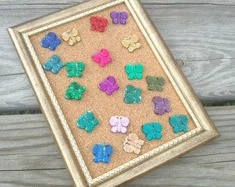 Handmade BUTTERFLY thumbtacks, Gem pushpins, Secretary gift, Decorative thumbtack, Butterfly push pins, Butterfly thumbtacks, Thumbtack set