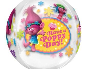 """16"""" Trolls Bubble Balloon, Trolls Balloon , Trolls Birthday Decor, Bubble Balloon"""