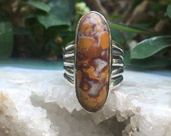 Jasper & Sterling Silver Ring