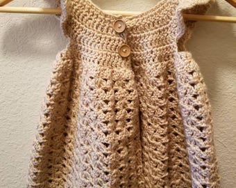Girls crochet pinafore style top *size 5/6*