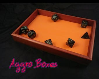 Aggro Boxes RPG 5x7 Dice Tray for Dungeons And Dragons and other Tabletop Dice Games or Jewelry Tray, Valet Tray.