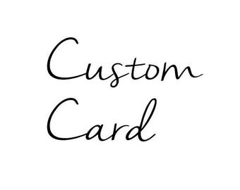 Any Card with Customized Text