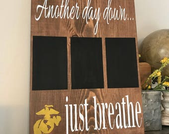 Another Day Down, Deployment Countdown, Military Decor, Countdown Sign, Home Decor, Wood Sign, Military Countdown Sign