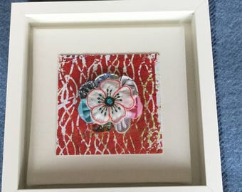 Handmade pictures with flower