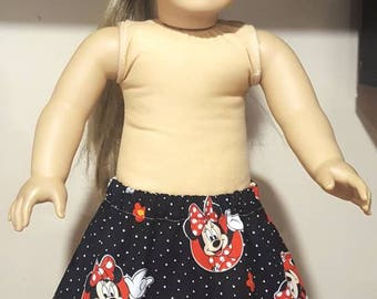 "Doll Skirt, 18"" Doll Skirt, 15"" Doll Skirt, matching set, doll and me outfit"