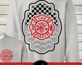Fireman Firefighter Monogrammed Customized Shirt Personalized Sweatshirt Long Sleeve Fleece