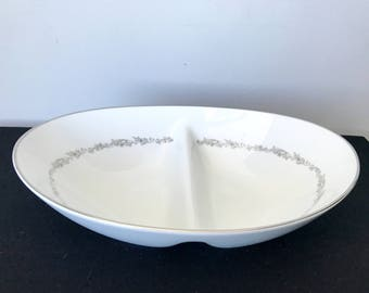 Noritake China Crestmont Divided Serving Bowl
