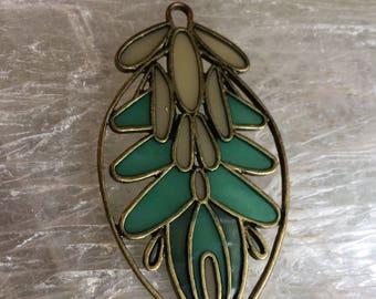 Brightly enameled necklace pendant