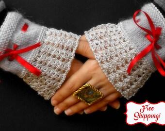 Romantic wedding gloves wedding mittens victorian gloves steampunk gloves bridal lace gloves romantic gloves steampunk wedding mittens