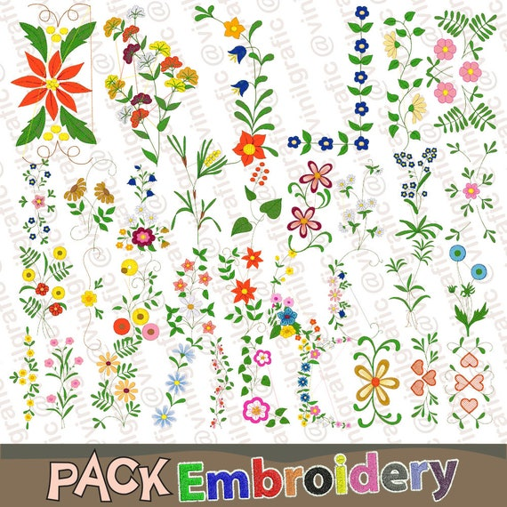 Floral Ornament 34 Embroidery Designs Sewing Brother Emb Hus