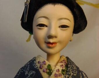 Kyouka Posable OOAK doll 1/6Custom doll Obitsu doll Japanese doll with head