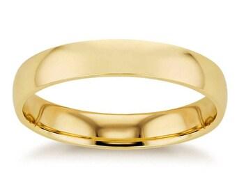 3.7 mm 14K Yellow Gold Wedding Band Ring
