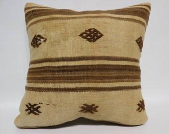 Turkish Kilim Pillow Handwoven Kilim Pillow 20x20 Large Kilim Pillow Ethnic Pillow Sofa Pillow Ethnic Pillow Cushion Cover  SP5050-2556