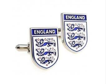 England Soccer/Football team Cufflink -k99 Free Gift Box.