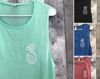 White Pineapple Shirt