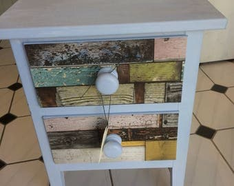 Two drawer painted cabinet.