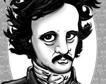Edgar Allan Poe portrait // digital art