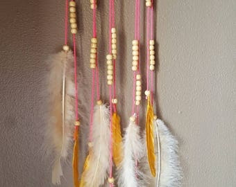 Boho Feathered Wall Hanging